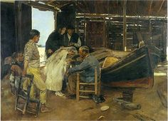 The happy day - Joaquín Sorolla - Completion Date: 1892
