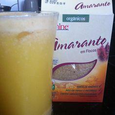 Lanche da manha... Suco de laranja com amaranto: poucos alimentos de origem vegetal contem proteínas completas em sua composição de aminoácidos como ele! Rico em fibras e minerais! Fonte de vitamina e cálcio! Não  contem glúten !!! - @danipaixao1- #webstagram