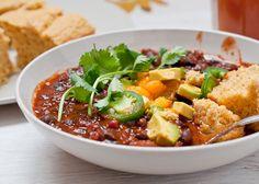 vegan chili & gluten-free cornbread