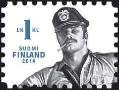 Nell Frizzell: Sometimes it takes a gay man to cater for the female gaze, so thank you Tom of Finland for your entirely lickable stamps Tom Of Finland Art, Leather Toms, Built Environment, Halle, Caricature, Captain Hat, Gay, Take That, History
