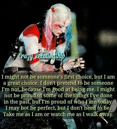 Swear Harley and I are one in the same. Strong Quotes, True Quotes, Crazy Quotes, Harely Quinn, Joker Quotes, Badass Quotes, Joker And Harley Quinn, Queen Quotes, True Words