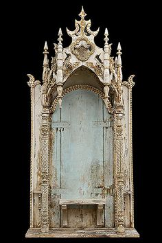 Spanish Antique Chapel Altarpiece from Catalonia Region Gothic Cathedral, Home Altar, Gothic Furniture, Found Art, Chapelle, Assemblage Art, Sacred Art, Triptych, Religious Art