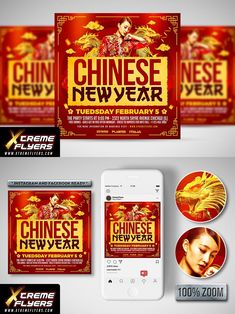 Chinese Design, Chinese New Year, Flyer Template, Templates, Party, Chinese New Years, Stencils, Fiesta Party, Template