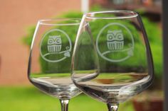 Owl Creek Vineyard Glasses. Shawnee Wine Trail
