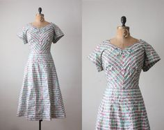 1950s dress  vintage 1950's garden party dress by Thrush on Etsy