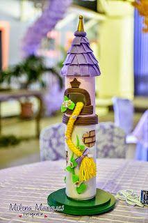 RAPUNZEL - ANTES DA FESTA Rapunzel Castle, Bolo Rapunzel, Rapunzel Birthday Cake, Tangled Party, Party Organization, Disney Princess Party, Valentine Box, Party Centerpieces, Paint Party