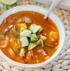 Most Crock-Pot recipes are inherently pretty easy, and this soup is no exception. Ingredients it calls for include bell peppers, onions, jalapeños, chicken, salsa, and a handful of spices even the most novice chef likely has in their pantry. All you have to do to make it is toss everything together and let it cook on high for three to four hours or low for six hours. Get the recipe here. Per one serving: 322 calories; 33 grams protein