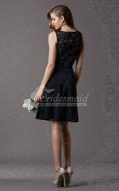 Best Black Satin And Lace Scoop Mini/Short Bridesmiad Dress (BDBB0773)-BeBridesmaid AU Best Black, Lace Bridesmaid Dresses, Mini Shorts, Black Satin, Dress For You, Formal Dresses, Fashion, Tea Length Formal Dresses, Moda