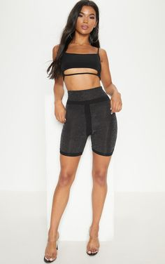 Shop the range of shorts today at PrettyLittleThing. Cycling Shorts, Shopping, Black, Black People, Cycling Tights