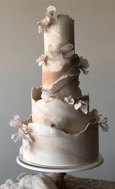 79 wedding cakes that are really pretty! - - The cake is probably the most admired element of the wedding. There's a reason why it's placed at the center of the reception hall,. Elegant Birthday Cakes, Pretty Wedding Cakes, Wedding Cakes With Cupcakes, Elegant Wedding Cakes, Wedding Cake Designs, Pretty Cakes, Beautiful Cakes, Rustic Wedding, Wedding Themes