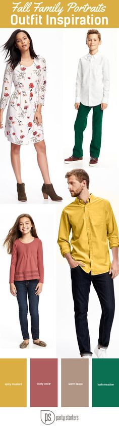 Fall Pantone Colors 2016 Inspired Family outfits.  Old Navy & JCrew