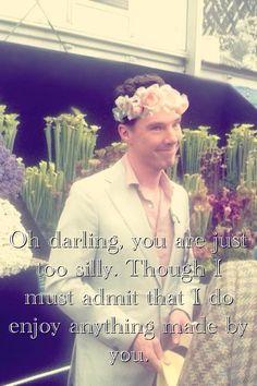 Hello darling/Benedict Cumberbatch (flowers)