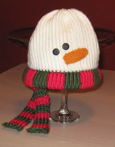 Knifty Knitter Snowman Patterns -- snowman hat