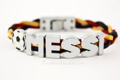 Messi Football Leather Bracelet Leo Messi Fan Soccer Football by PearlTwinkle