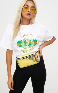 Yellow Holographic Bum Bag