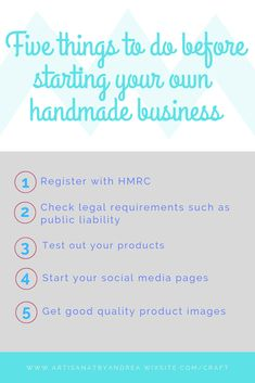 Top tips for starting a handmade business, what to do before starting your business. Social Media Pages, Craft Business, Small Businesses, Things To Do, Etsy Shop, Running, Tips, Handmade, Crafts