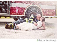My Fireman! Love This!    ETA: great idea for a firefighter themed TTD shoot