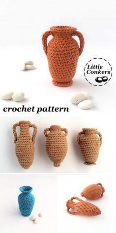 9 Creative Tips: How To Make A Paper Vases vases verre haut.Wall Vases Entryway what to put in small vases. Crochet Vase, Crochet Cactus, Wooden Vase, Metal Vase, Vase Transparent, Purple Vase, Vase Design, Paper Vase, Vase Crafts