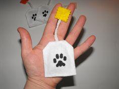 Cat Toys Tea Bag Catnip Cat Toys set of 4 by legendarycrochet