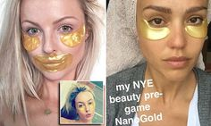Simone Holtznagel is the latest celebrity to rock golden eye masks