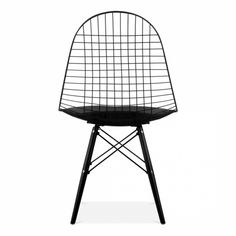 Charles Eames Style Black DKR Wire Chair | Dining Chairs | Cult UK