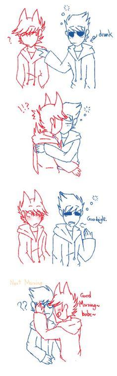 [Eddsworld] goodnight kiss (tomtord warning!) by HuiRou