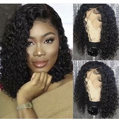 Provide High Quality Full Lace Wigs With All Virgin Hair And All Hand Made. Wholesale Human Hair Wigs Short Curly Wigs For African American Half Wigs For Black Ladies Curly Bob Wigs, Short Curly Hair, Curly Bob Hairstyles, African Hairstyles, Curly Hair Styles, Curly Braids, Black Hairstyles, Bob Braids, Natural Hairstyles