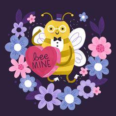 Alyssa Nassner Valentine's Day Bee Illustration
