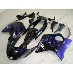 Honda CBR 1100XX BLACKBIRD 1996-2007 Injection ABS Fairing - Blue Flame - Black | $699.00