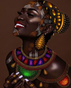 afrikanische frauen beauty and makeup hacks you didnt know you needed! Art Black Love, Black Girl Art, Black Is Beautiful, Art Girl, Beautiful Artwork, Beautiful Pictures, African Girl, African American Art, African Beauty