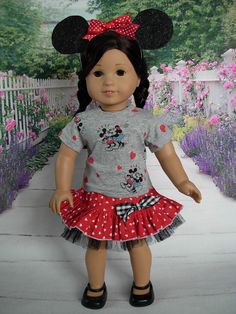 Famous Mice fits American Girl Doll and 18 by WeeWhimzyWardrobe, $25.00