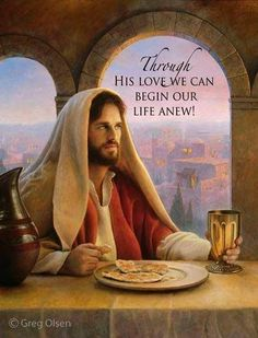 Through the loving sacrifice of Jesus Christ , you can begin a new life. Picture by Greg Olsen … How He Loves Us, Jesus Loves You, Bibel Journal, Religion, Pictures Of Jesus Christ, Jesus Art, Jesus Is Lord, Spiritual Inspiration, Heavenly Father