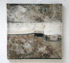 Abstrato com colagem e encaustica de Michaela Mara-art.jimdo.com