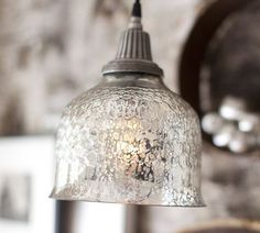 Glass Indoor/Outdoor Pendant Oh Mercury Glass.love this look!Oh Mercury Glass.love this look! Looking Glass Spray Paint, Krylon Looking Glass, Glass Paint, Modern Kitchen Lighting, Kitchen Lighting Fixtures, Farmhouse Lighting, Rustic Pendant Lighting Kitchen, Light Fixtures, Island Pendants