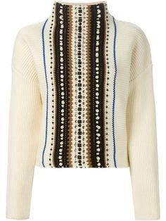 Shop Aviù embellished front sweater  in Mimma Ninni from the world's best independent boutiques at farfetch.com. Shop 300 boutiques at one address.