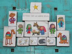 Doodle Craft...: Cute Christmas Nativity Sets and Stickers!
