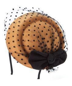 Camel Polka Dot Headband