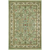 Found it at Wayfair - American Home Classic Kashan Light Green/Ivory Rug