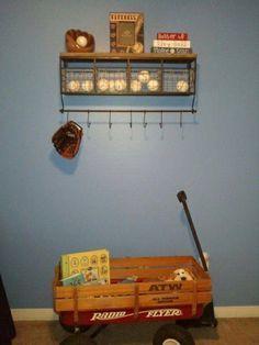 baseball themed nursery storage - Google Search