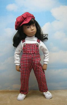 3-piece Overalls Set to fit 17 inch Sasha by BevBeeseDollyTogs