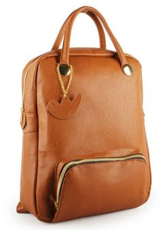 Squre Leather backpack/brief case/laptop bag/ipad by PrettyBag, $26.00