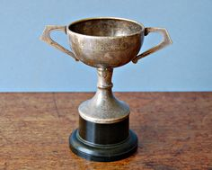 Vintage 1980 silver plated sports trophy by nancyplage on Etsy, £14.00