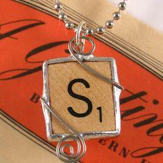 Scrabble Letter S Pendant #diy #hand made