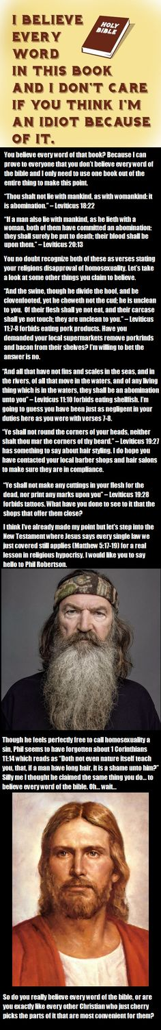 Do you really believe every word of the bible? With guest appearances from Phil Robertson and Jesus Christ.