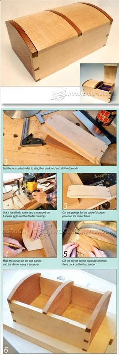 Jewellery Casket Plans - Woodworking Plans and Projects | WoodArchivist.com #woodworkingplans