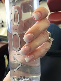 40 french fade with nude and white ombre acrylic nails coffin nails 43 - Summer Nail Colors Ideen Acrylic Nails Natural, Natural Nails, Nail Polish Designs, Acrylic Nail Designs, Nails Design, Gorgeous Nails, Pretty Nails, Wedding Nail Polish, Gel Nails French