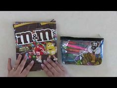 No Sew Candy Bag Pencil Pouch Tutorial