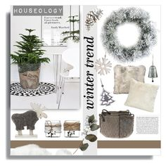 """""""Houseology Christmas White Out"""" by melissa-de-souza ❤ liked on Polyvore featuring interior, interiors, interior design, home, home decor and interior decorating"""