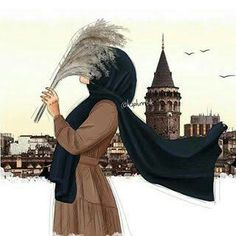 149 images about hijab art on We Heart It Hijab Anime, Anime Muslim, Cartoon Girl Images, Girl Cartoon, Cartoon Art, Hijabi Girl, Girl Hijab, Tattoos Anime, Cat Anime