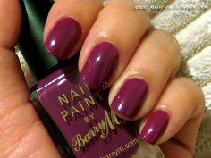 Berry m nail paint! Love this color!